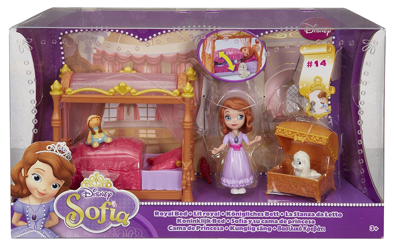 Letto Carrozza Disney : Mattel y6648 disney princess la stanza da letto di sofia: amazon