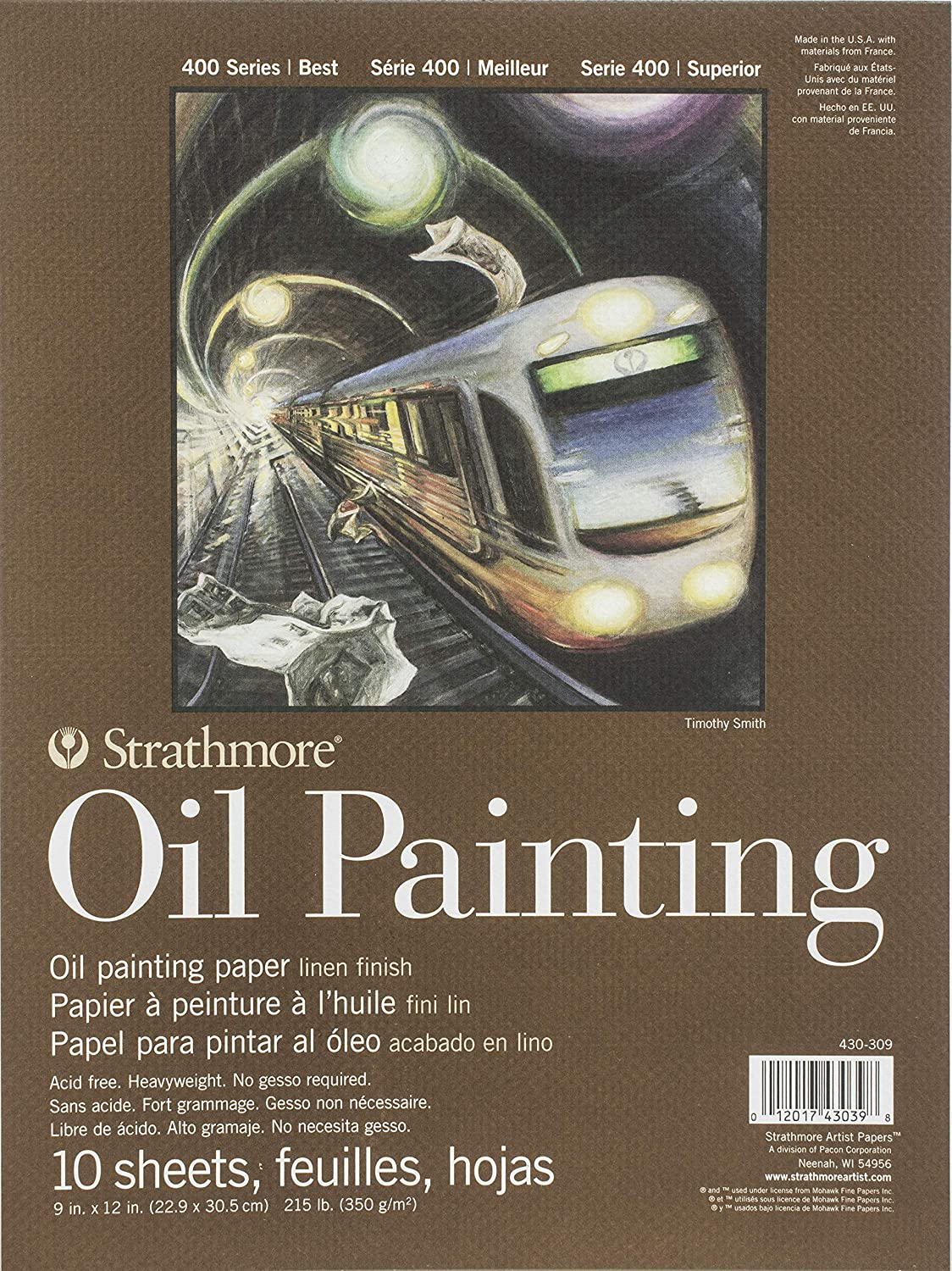 10 Sheets per Pad 400 Series Oil Painting Pad 9 x 12 Glue Bound