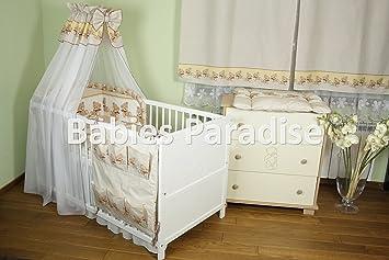 Baby bettwäsche set bär mit schleife tlg braun amazon baby