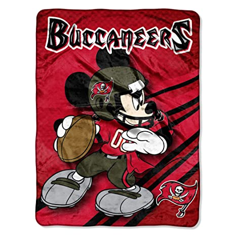 e22bee091 The Northwest Company Officially Licensed NFL Tampa Bay Buccaneers Mickey  Mouse Ultra Plush Micro Super Soft