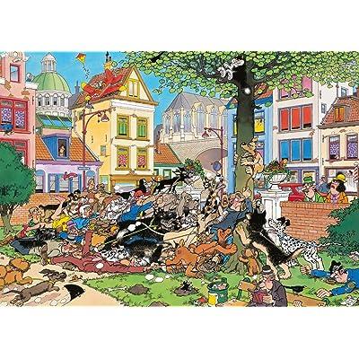 Jumbo Jan Van Haasteren Get That cat Jigsaw Puzzle (1000 Piece): Toys & Games [5Bkhe0806513]