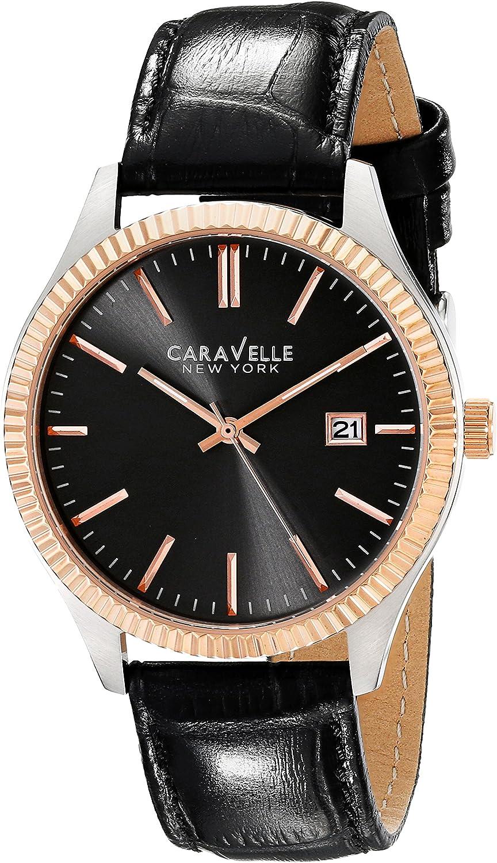 Caravelle New York Men s 45B131 Analog Display Analog Quartz Black Watch