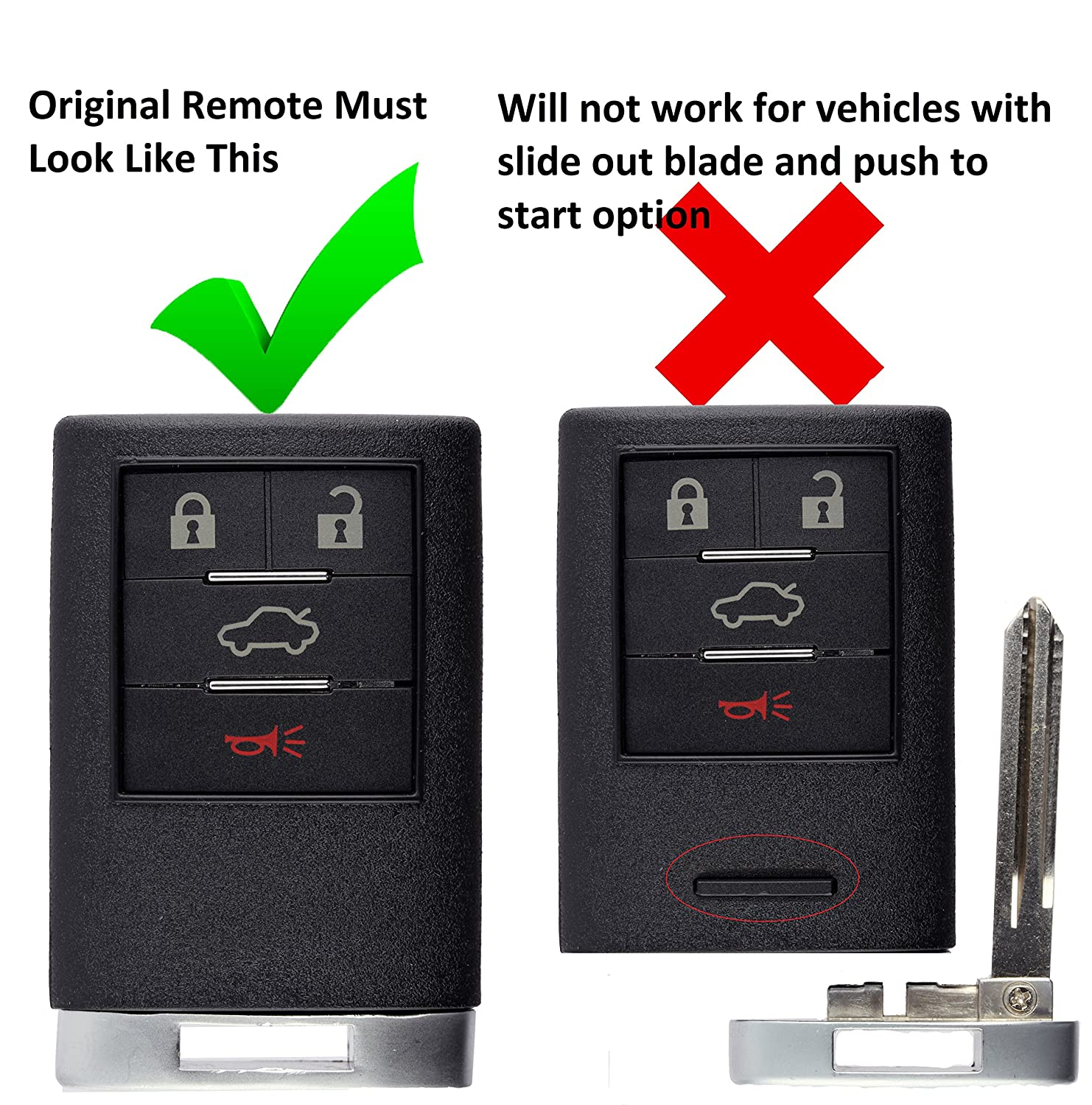 KeylessOption Keyless Entry Remote Control Car Key Fob Replacement for M3N5WY8109 Pack of 2