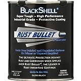 Rust Bullet BlackShell - Quart, Black Rust Inhibitor, Rust Preventive Coating - UV Resistant Rust Treatment