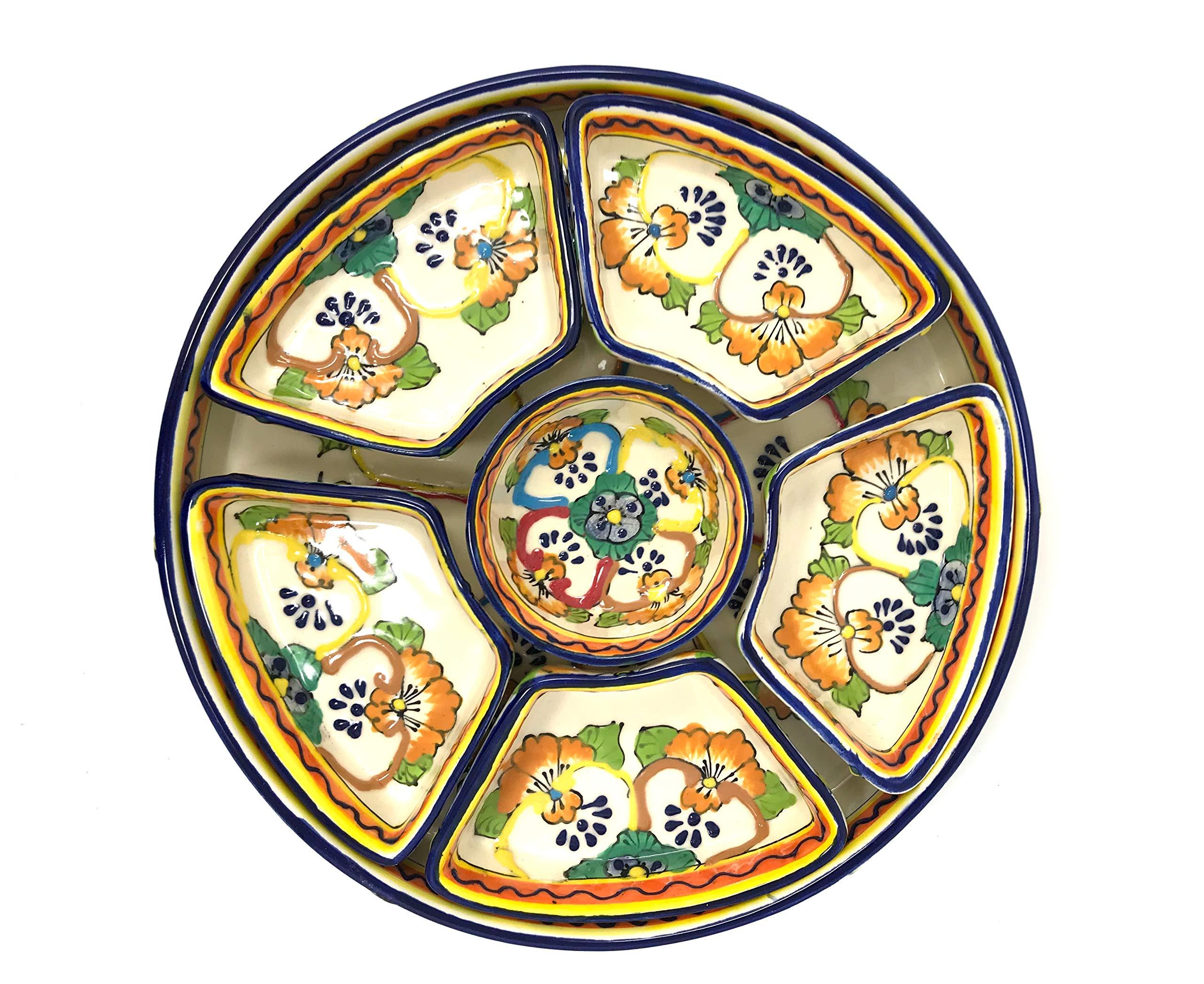Mexican Talavera Taco Serving Set by Mexican Talavera Pottery (Image #3)