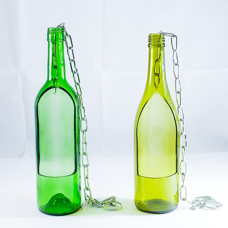 Amazon.com: Maceta suculenta hecha de botella de vino – 2 ...