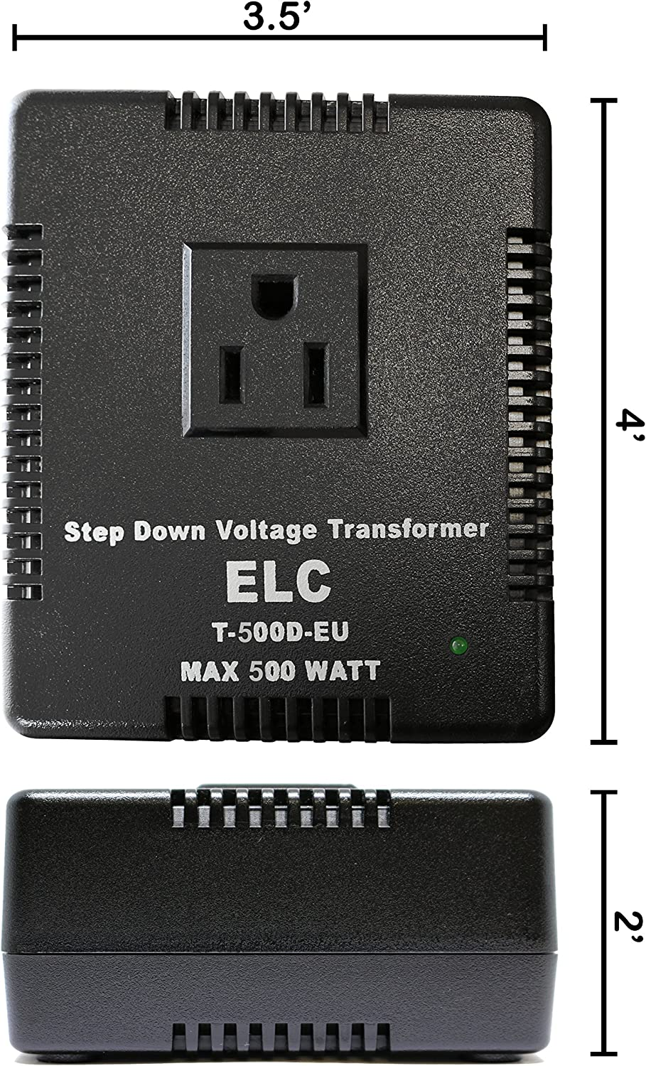 Travel Chargers ELC 200 Watt Voltage Converter Transformer Heavy Duty Compact 220//240 to 110//120 Volt for Hair Straightener Laptops Step Down TVs Toothbrush Light Weight