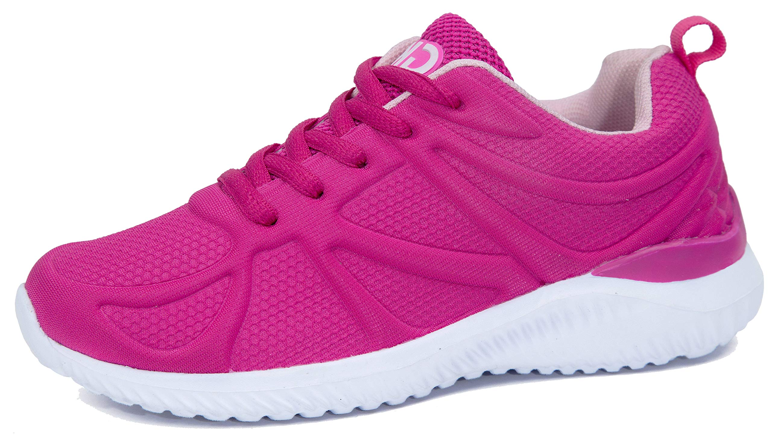 Kids Athletic Tennis Shoes - Little Kid Sneakers with Girl and Boy Sizes Fucshia Size 1 Little Kid (Fucsia - 32) 1 M US