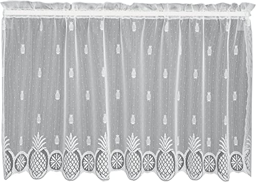 Heritage Lace Welcome Tier, 60 by 30-Inch, White