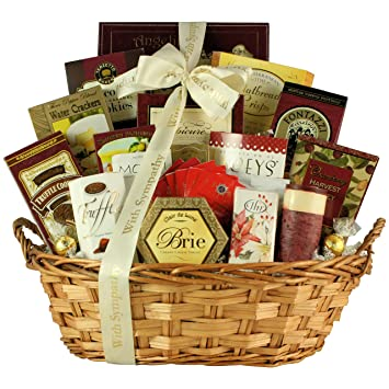 Amazon with deepest sympathy condolence gift basket fresh with deepest sympathy condolence gift basket solutioingenieria Gallery