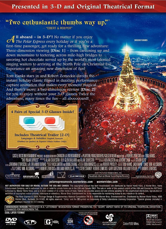 Amazon.com: The Polar Express Presented in 3-D: Tom Hanks, Chris ...