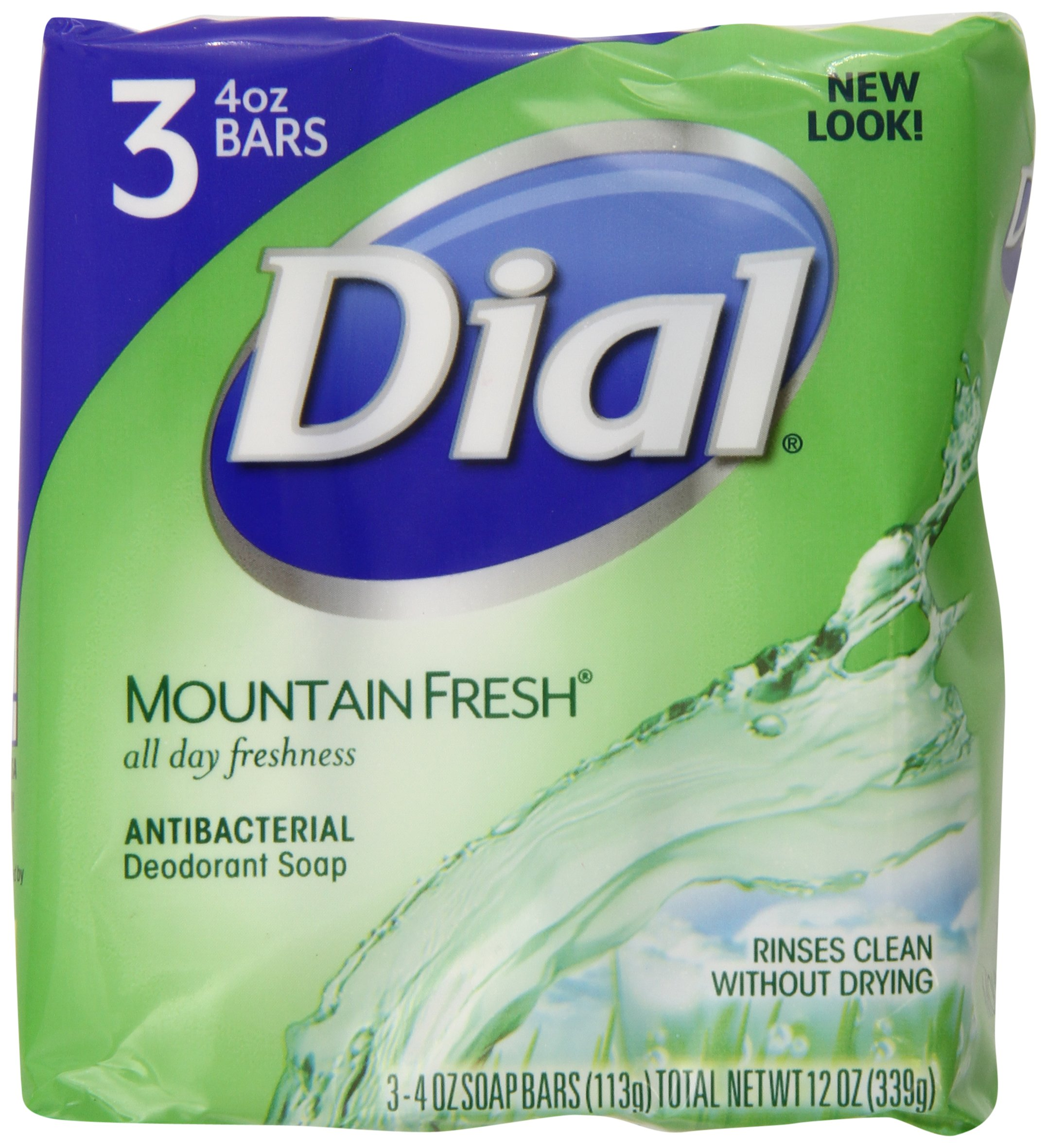 Dial Antibacterial Deodorant Soap, Mountain Fresh, 4 Ounce, 54 Bars