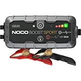 NOCO Boost Sport GB20 500 Amp 12-Volt UltraSafe Portable Lithium Car Battery Jump Starter Pack For Up To 4-Liter…
