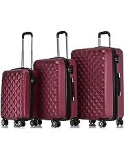BEIBYE Zwillingsrollen 2066 Hartschale Trolley Koffer Reisekoffer Gepäck M-L-XL-Set