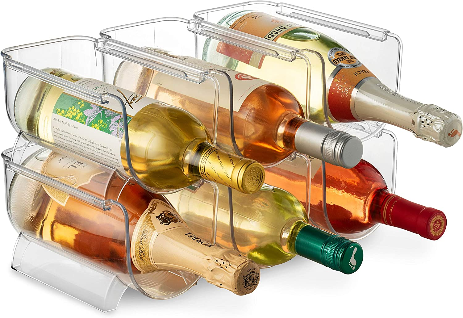 Stackable Plastic Wine Rack Holder for Pantry