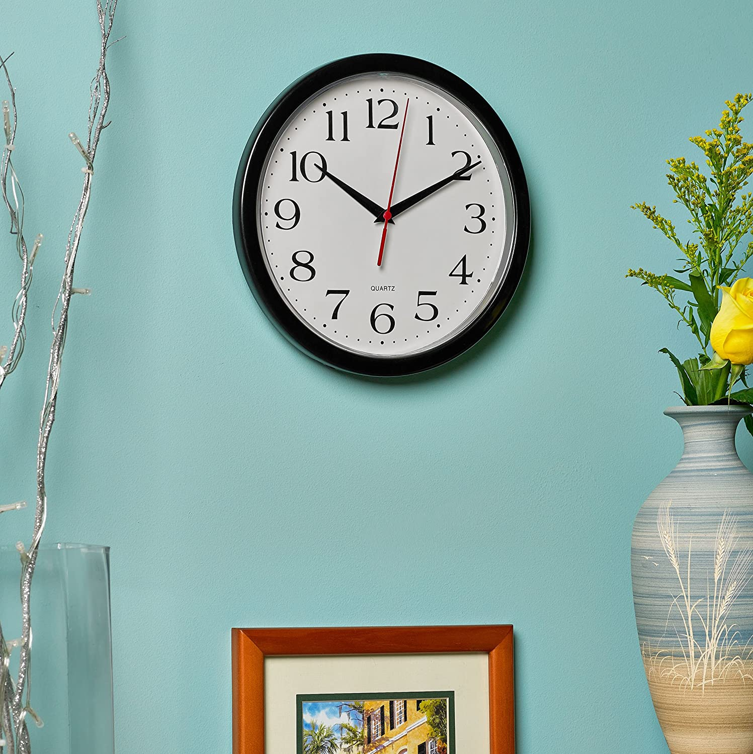 10-inch Round Easy-to-Read Wall Clock