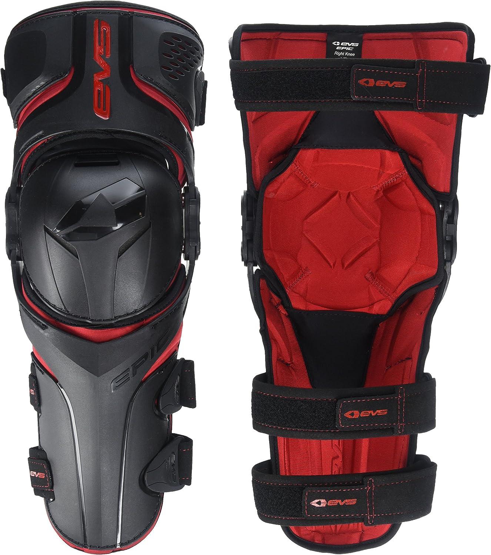 LEATT Dual Axis MX Motocross ATV Knee and Shin Guard Black//Red Size S//M