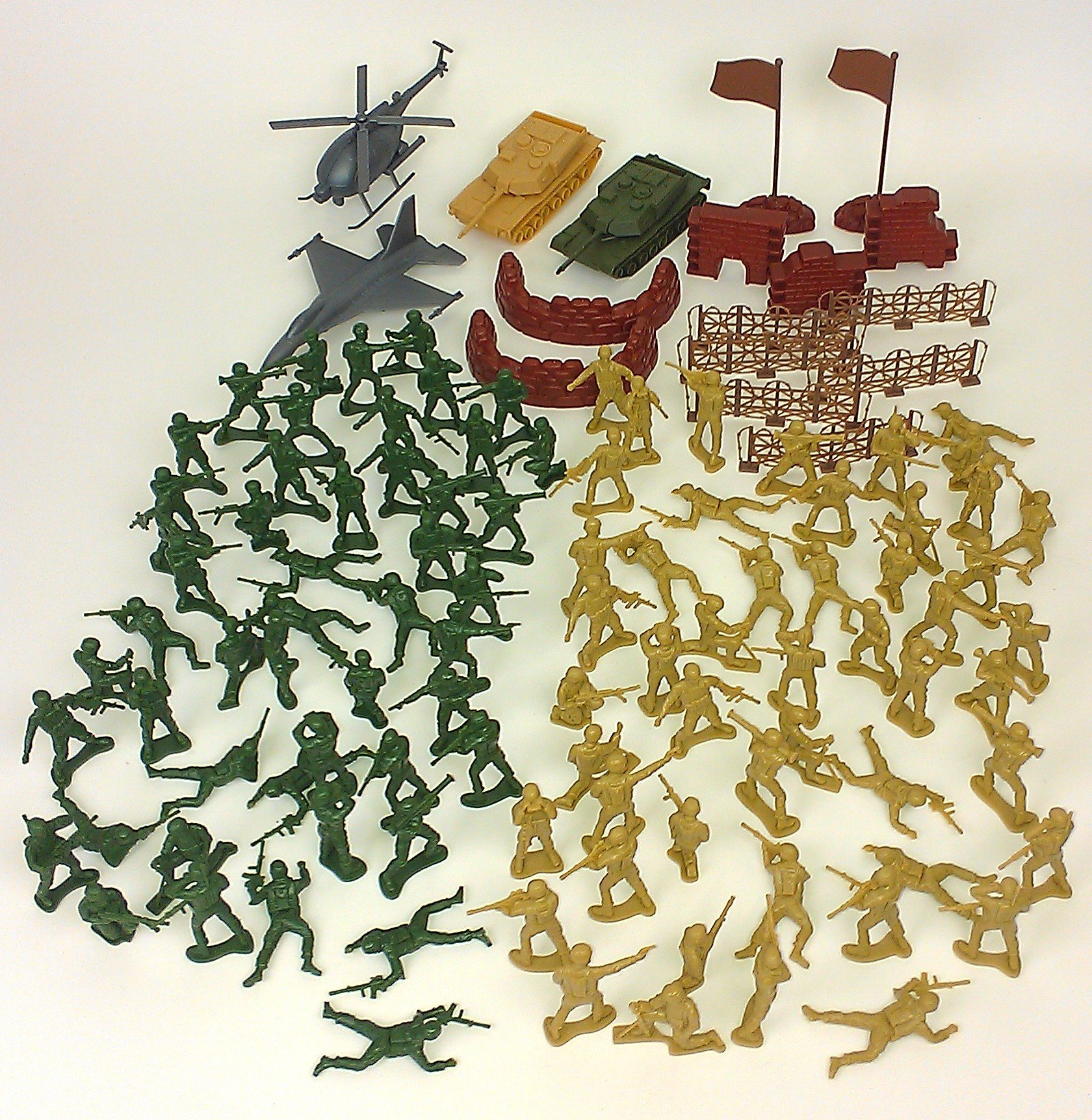 Elite Force Battle Group Army Men Play Bucket - 120 Piece Military Soldier Playset by Elite Force (Image #4)