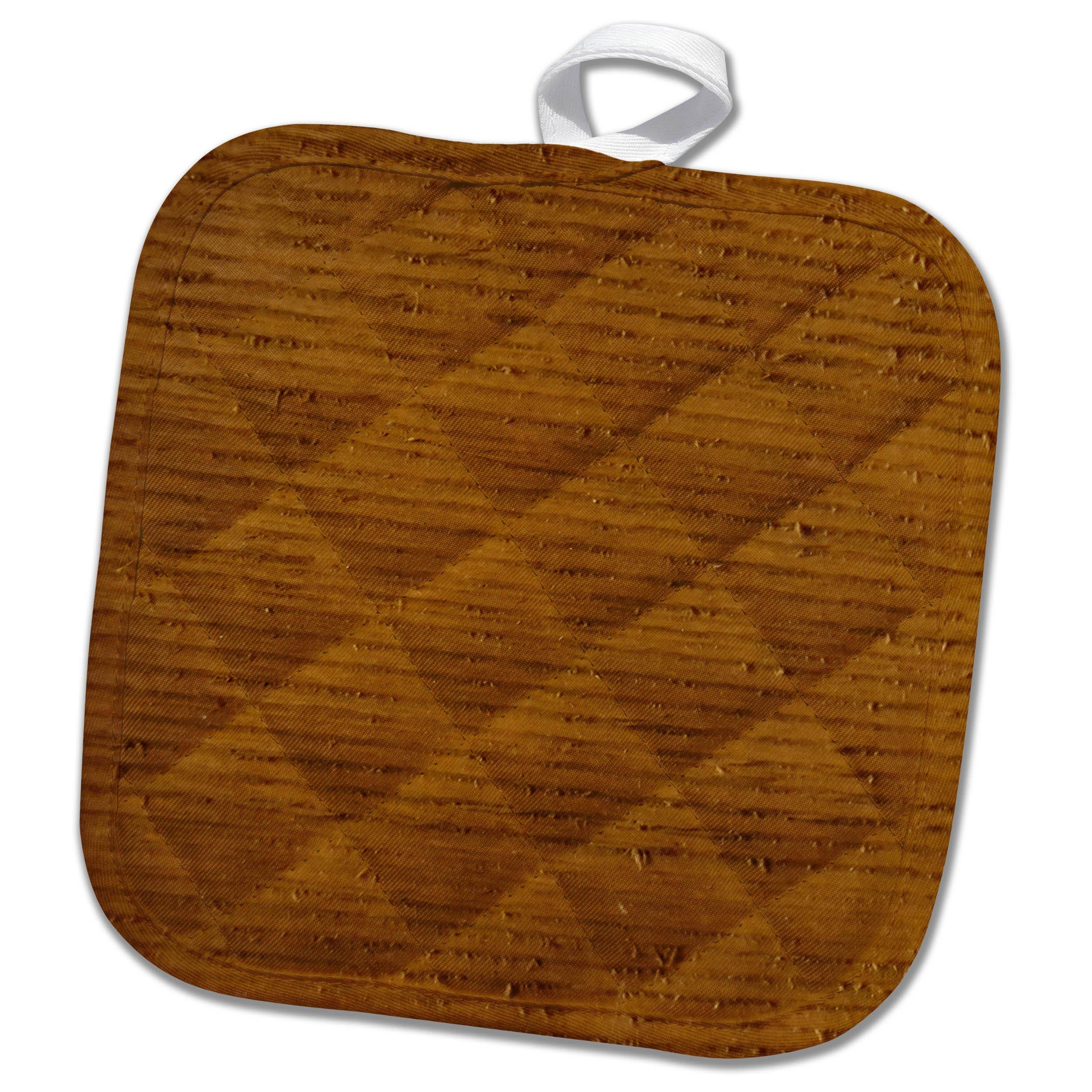 3dRose TDSwhite – Miscellaneous Photography - Dry Wood Grains - 8x8 Potholder (phl_285291_1)