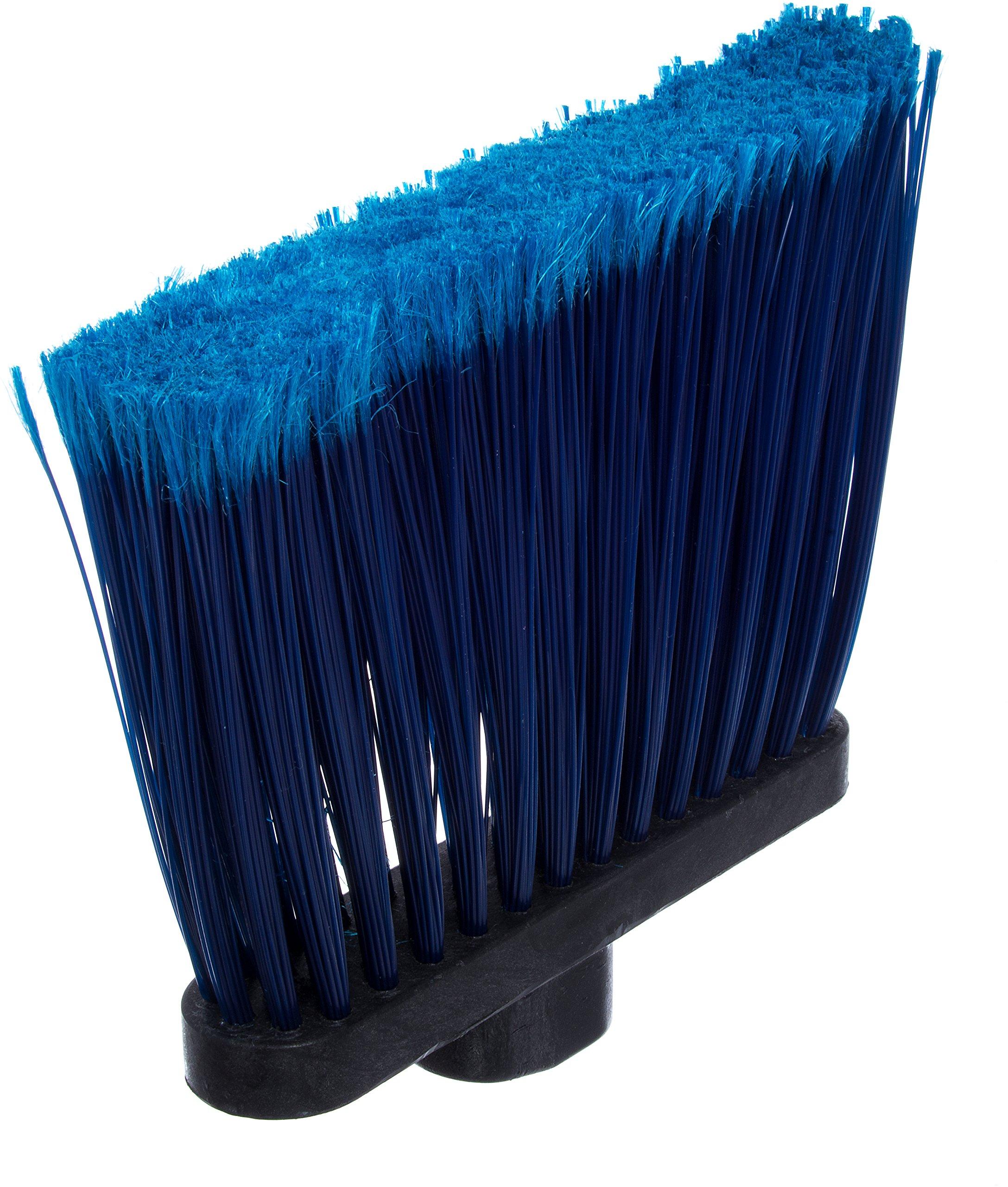 Carlisle 3686714 Duo-Sweep Medium Duty Flagged Angle Broom Head, Polypropylene Bristle, 8'' Overall Length x 12'' Width, Blue (Pack of 12) by Carlisle (Image #4)