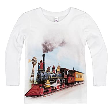 d6162eeb Shirts That Go Little Boys' Long Sleeve Old West Steam Train T-Shirt 2