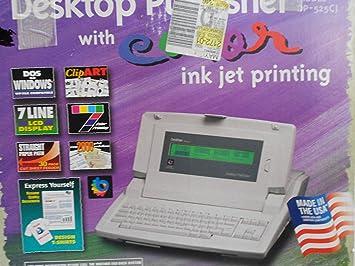 Brother dp-525cj Desktop Publisher electrónico máquina de escribir Plus Procesador de texto, pantalla LCD línea de 7: Amazon.es: Electrónica