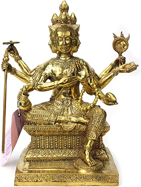 Brass Four Face Buddha Statue.