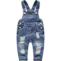 Kidscool Baby & Little Boys/Girls Ripped Holes Bib Jeans Overall