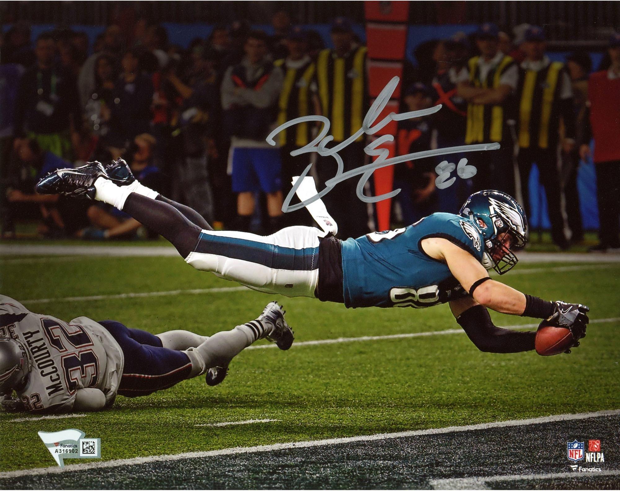 """Zach Ertz Philadelphia Eagles Autographed 8"""" x 10"""" Super Bowl LII Champions Photograph Fanatics Authentic Certified"""