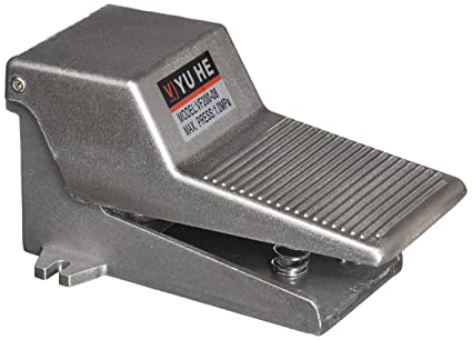 Gray Metal 2 Position 3 Way Momentary Foot Pedal Operated Valve Air