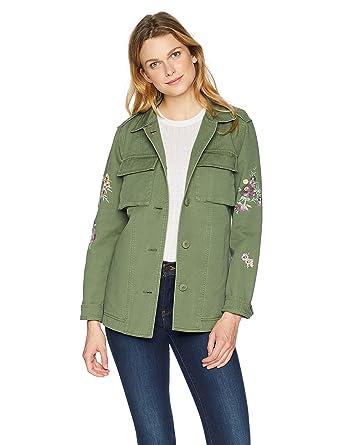 e243271e5758e9 Levi s Women s Floral Embroidered Cotton Shirt Jacket at Amazon ...