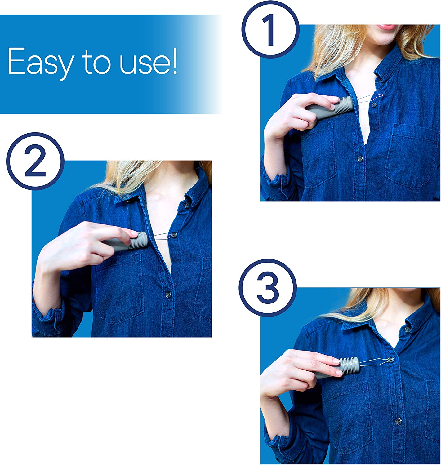 RMS Button Hook with Zipper Pull - Button Assist Device with Comfort & Wide Grip, Shirt & Coat Buttoning Aid Ideal for Limited Dexterity Caused by Arthritis (Grey): Health & Personal Care