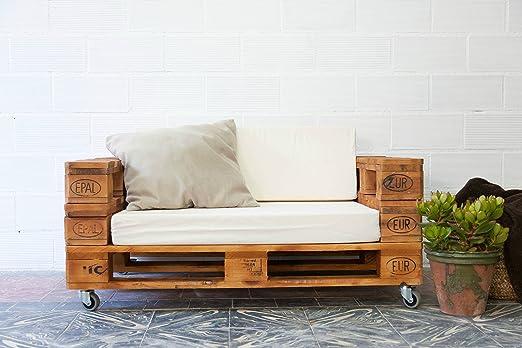 REMAKED Sofa Palet 120X80 Barniz (Incluye Ruedas y Colchonetas): Amazon.es: Hogar