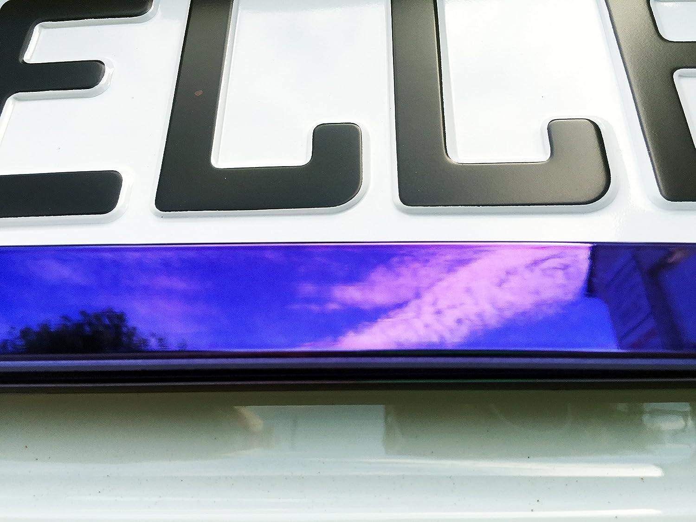 2 x Kennzeichenhalter Nummernschildhalter Lila Chrom Metallic ...
