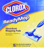 """Clorox ReadyMop Absorbent, 16 Refill Mopping Pads, 8.5"""" x 10.5"""""""