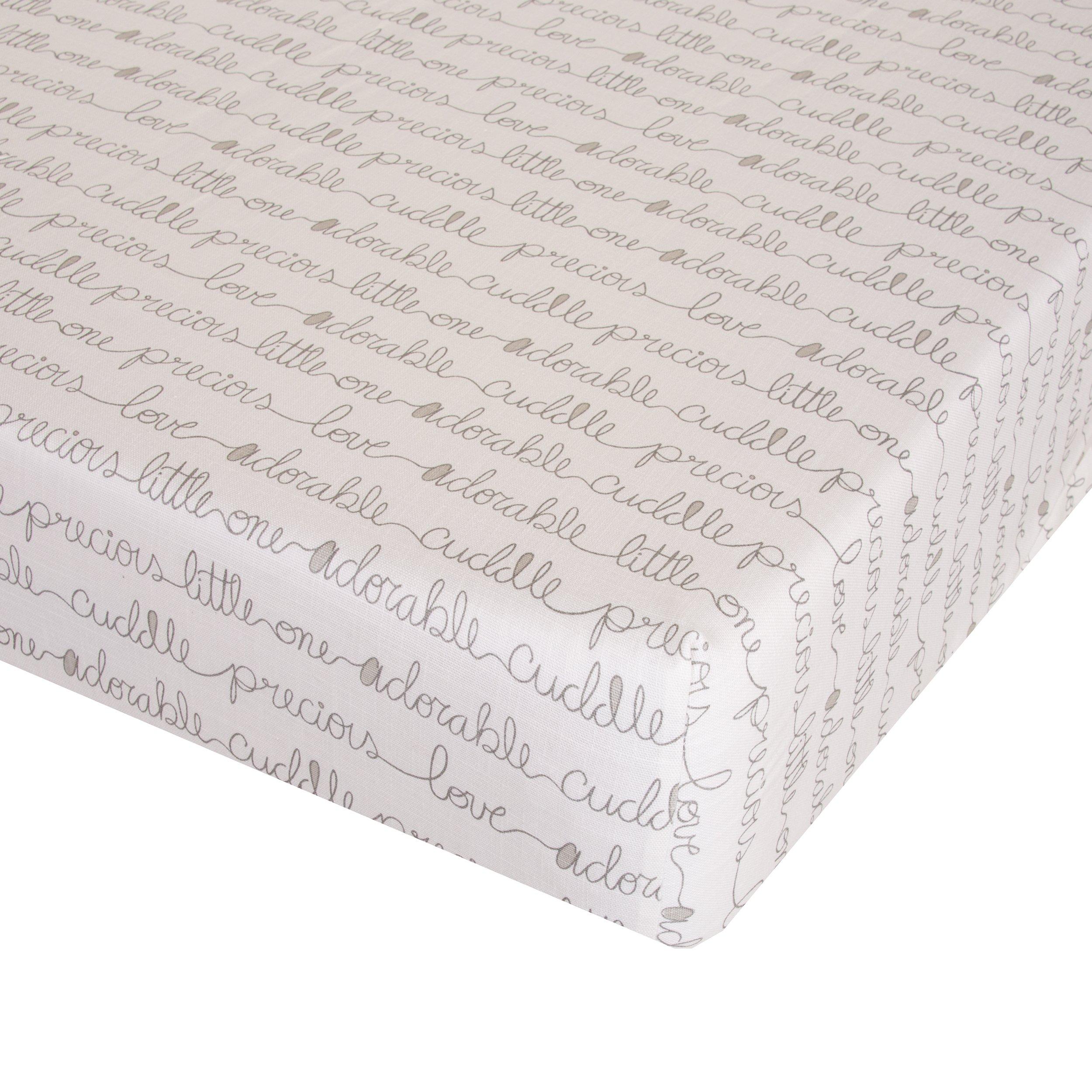 Glenna Jean All My Love Crib Sheet Fitted 28''x52''x8'' Nursery Standard