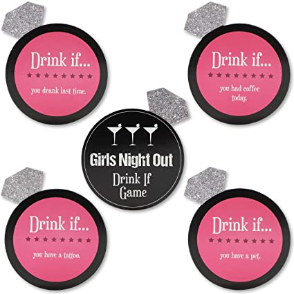 091ef7fc4ca Amazon.com  30 Pack Black and Pink Drink If Card Game - Bridal ...