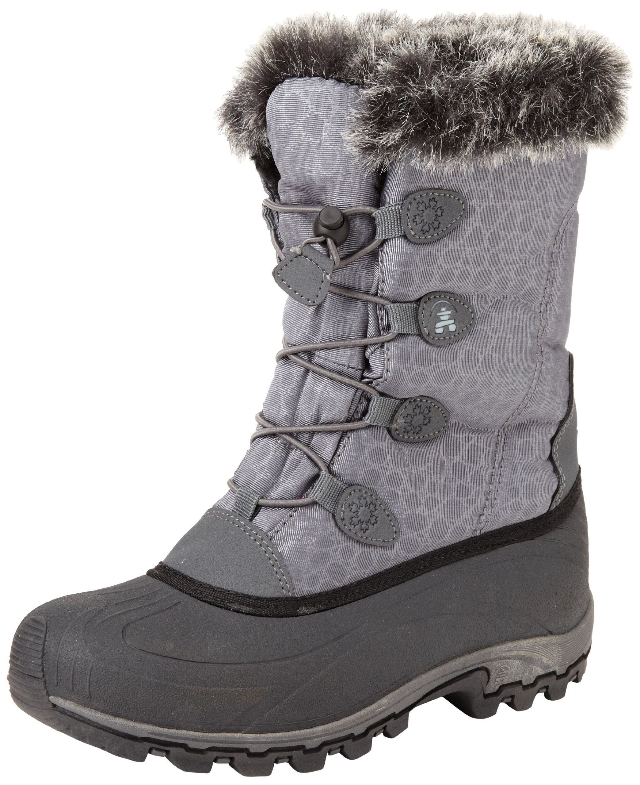 Kamik Women's Momentum Snow Boot,Charcoal,6 M US