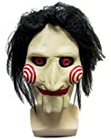 WELLIN Party Halloween Saw Billy The Puppet Mask , Latex Masquerade Prop Christmas
