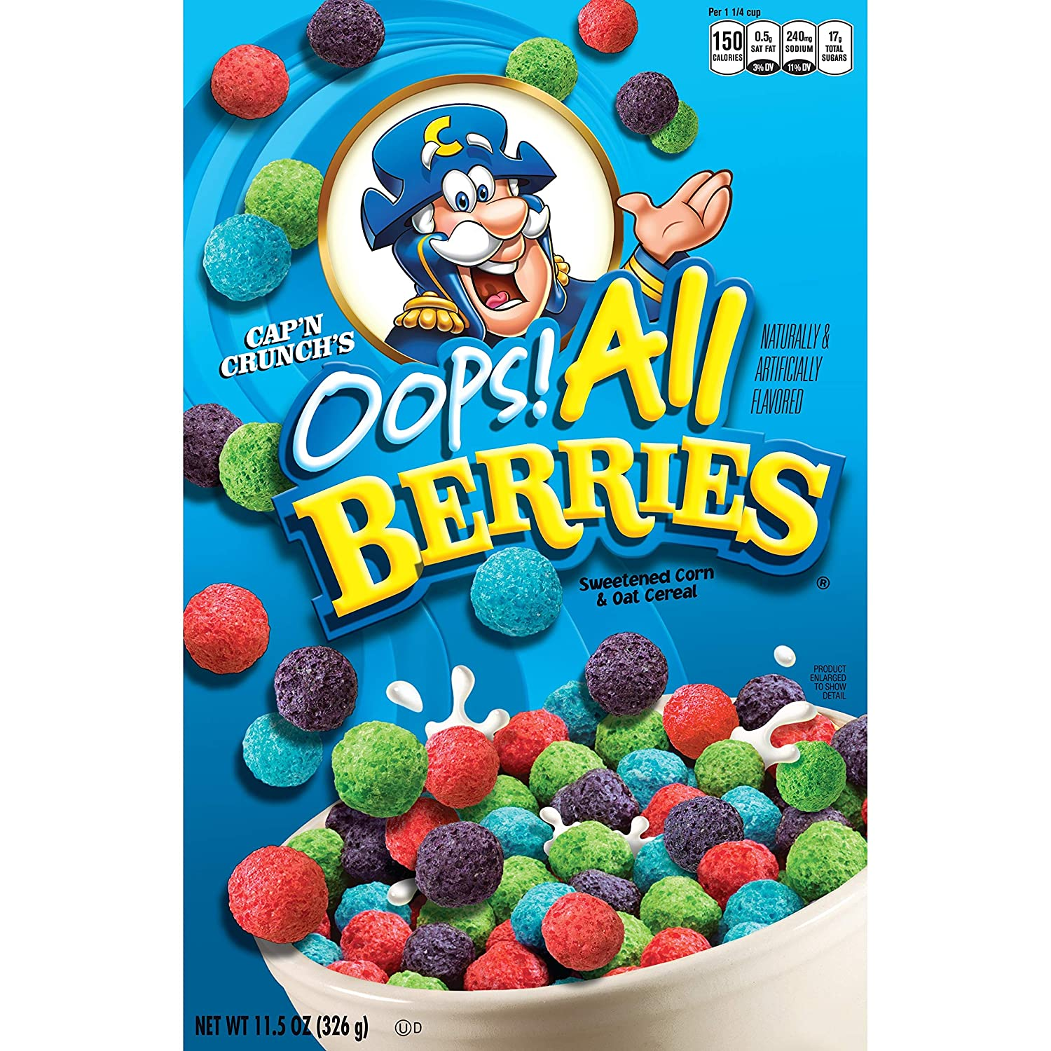 Amazon Com Cap N Crunch S Oops All Berries 11 5oz How long would it take to burn off 130 calories of cap'n crunch oops! cap n crunch s oops all berries 11 5oz