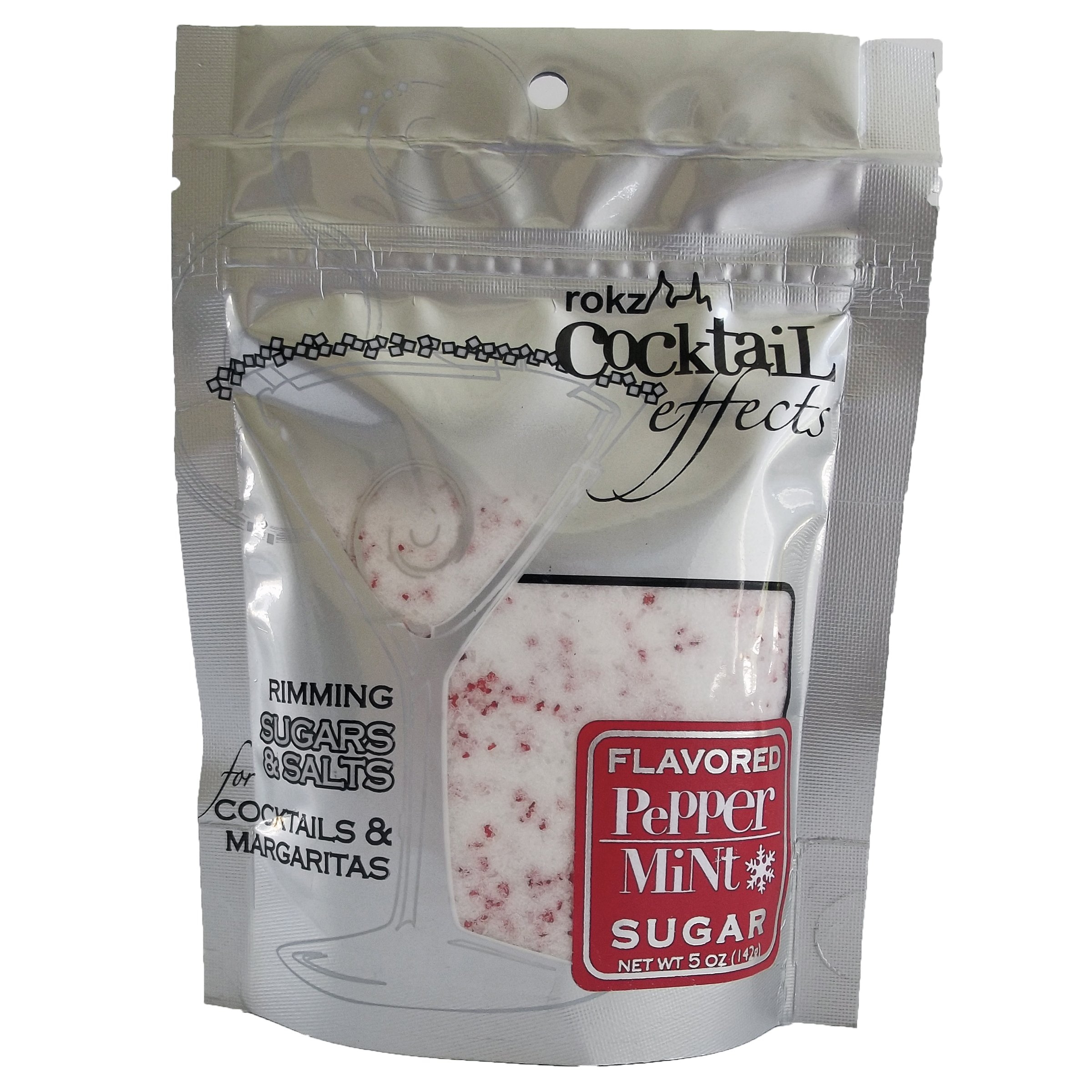 rokz Peppermint Cocktail Sugar, drink rimmer (Pack of 3)