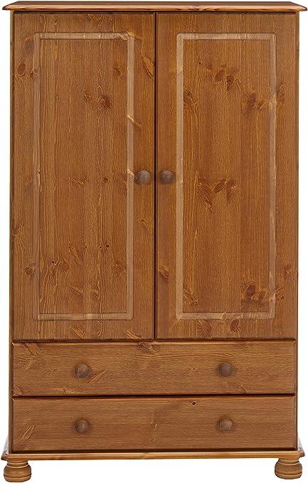 Steens Richmond Combi armario ropero de madera, marrón, 2: Amazon ...