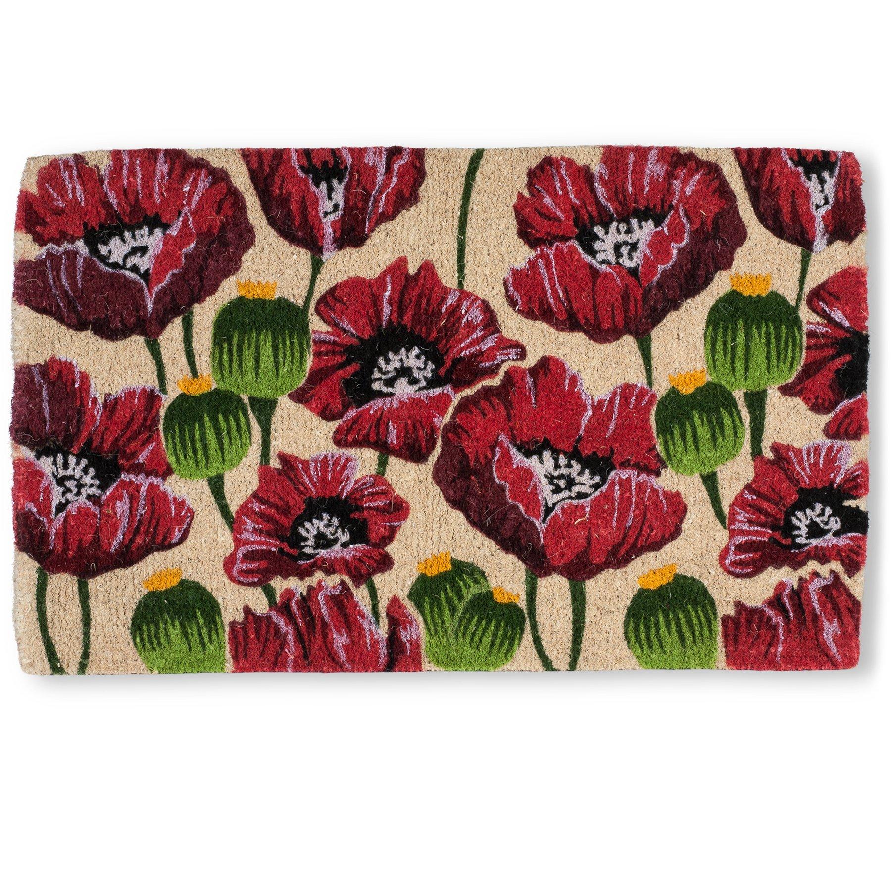 Abbott Collection Coir Poppy Doormat (Extra Large)
