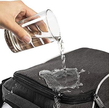 Verran Bandolera de Hombre Vintage Bolso Hombre Bandolera Pequeño Resistente al Agua y los Arañazos con Soporte de iPad y Tableta 26x21x11 centímetro