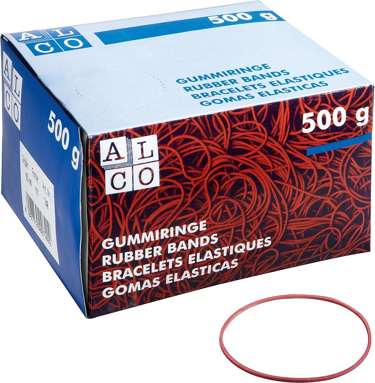 rot Alco 737-1 Gummiringe im Karton Ø100 mm Inh.50 g