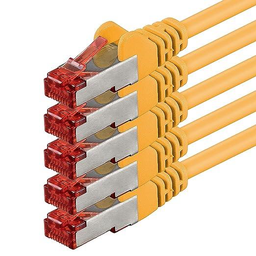 40 opinioni per 0,5m- giallo- 5 pezzi- Rete Cavi Cat6   S-FTP   CAT 6   doppia schermatura  