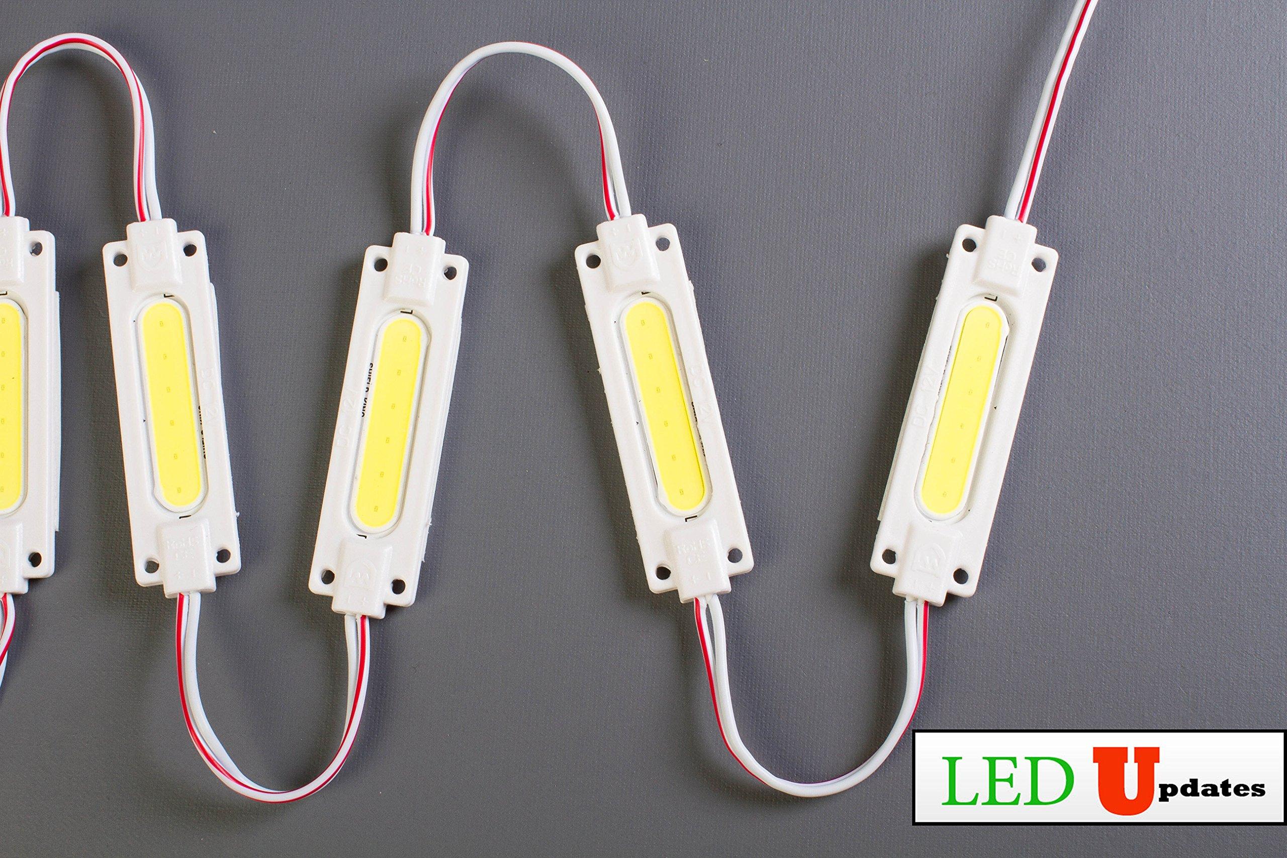 LEDUPDATES BRIGHTEST STOREFRONT WINDOW LED LIGHT COB WITH UL POWER SUPPLY BRIGHTER THAN 5050 5630 5730 2835 (20ft, White) by LEDUPDATES (Image #5)