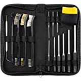 All-In-One Gun Cleaning Kit with Grip Roll Pin Punch Tool Set, Gun Cleaning Brush Pick Kit, Anti-Rust Silicone Cloth in Zippered Organizer Space Saving Carry Case (15 Pieces)by BOOSTEADY
