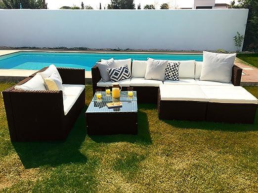 KieferGarden San Francisco Deluxe Sofá Modular Grandes Dimensiones Exterior y jardín: Amazon.es: Jardín