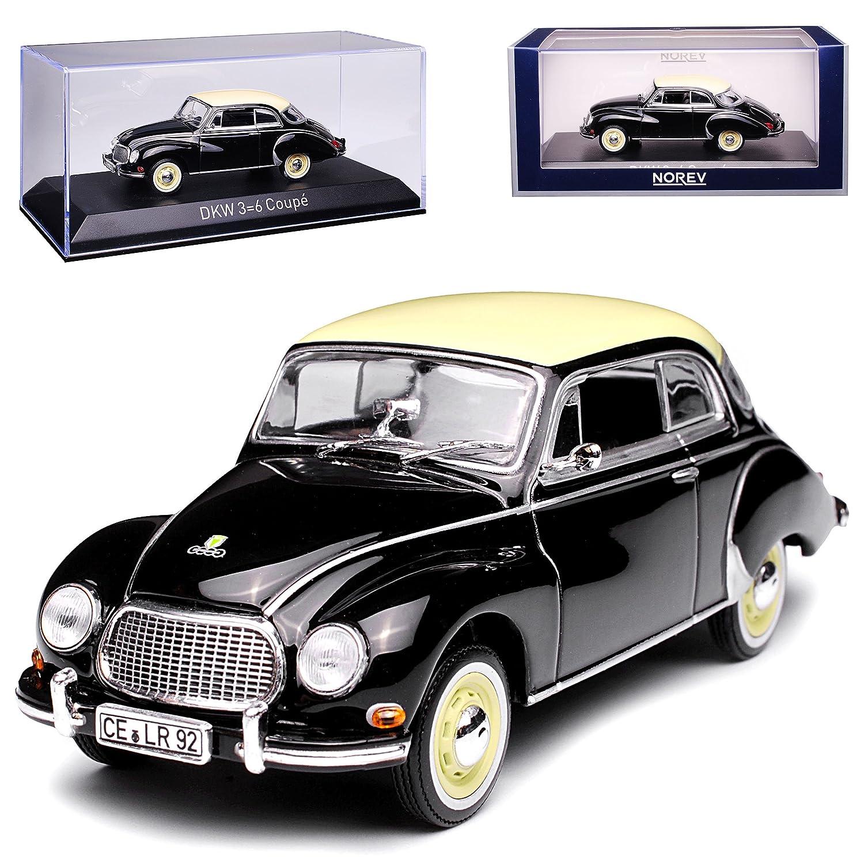 Norev DKW Auto Union 3=6 Coupe F93 F94 Schwarz mit Beige 1955-1959 1//43 Modell Auto mit individiuellem Wunschkennzeichen